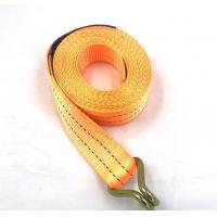 Buy cheap Polyester Webbing Lashing Strap Ratchet Tie Down Buckle Belt With Metal J Hook from wholesalers