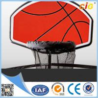 Buy cheap 10ft black orange secure durable spring free Jumping Trampoline OF PVC Material from wholesalers
