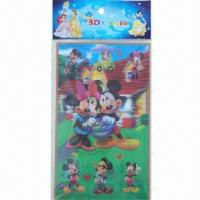 Buy cheap Lenticular Stickers, 3D Hologram Sticker, Available in Various Sizes and Colors, Easy to Apply product