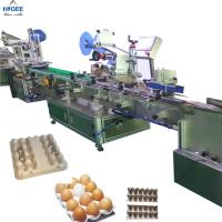 Buy cheap Egg tray carton box labeling machine with egg plastic boxes,  flat labeling machine with eggs protector box egg sand box from wholesalers