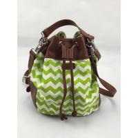Buy cheap Green Wavy Bucket Crossbody Shoulder Bags Various Design With Closure Button from wholesalers