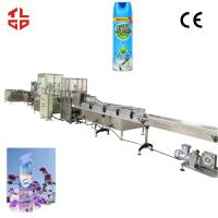 Buy cheap Air Freshener Aerosol Filling Machine , Aerosol Can Filling Equipment High Speed from wholesalers