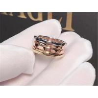 Buy cheap Bvlgari three color classic gold  ring 18kt  gold  with white gold &  yellow gold & pink(rose)gold from wholesalers
