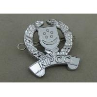 Buy cheap 3D Chrome Souvenir Badges , Zinc Alloy Die Struck Awards Police Badges from wholesalers