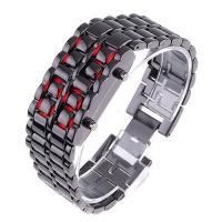 Buy cheap Fashion Trendy Japan Iron Samurai LED Metal Wrist Watch Lava LED For Mens from wholesalers
