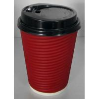 Buy cheap Light Weight Disposable Paper Cups With Lids Anti Slip Design , Double Wall For Hot Drink product