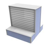 Buy cheap Retail Shop Custom Tradeshow Booth Metal Material Slatwall Panel Display Rack from wholesalers