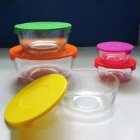 Buy cheap high quality clear glass bowl with plastic lid, salad bowl, fresh bowl for sale from wholesalers