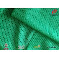 Buy cheap Lime Green Dull Sports Mesh Fabric 100 Polyester Moisture Wicking Fabric  5*1 Design from wholesalers