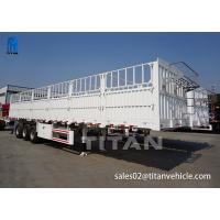Buy cheap 3 axle fence livestock semi truck trailer for sale TITAN VEHICLE from wholesalers