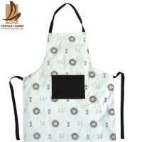 Buy cheap Flower Printed Comfortable Floral Cotton Kitchen Apron Home Cooking Uniform from wholesalers