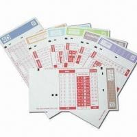 Buy cheap Lottery Tickets with Sequential Numbering and Hot Stamping Features from wholesalers