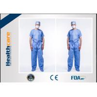 Buy cheap Anti Dust Disposable Scrub Suits Hospital Jacket For Men With Custom Logo Printing from wholesalers