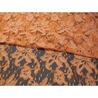 Buy cheap Orange Cotton Nylon Lace Mesh Fabric AZO Dyeing For Ladies Garment SYD-0001 from wholesalers