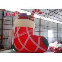Buy cheap Outdoor Inflatable Holiday Decor socks gifts , Christmas Airblown Inflatables Man package from wholesalers