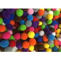 Buy cheap Multicolored Polyester Pom Pom Ball Trim For Apparal / Home Decoration , 2CM Dia from wholesalers