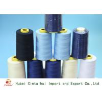 China Durable 50/2 Dyed Polyester Yarn , Multi Colored Polyester Knitting Yarn on sale