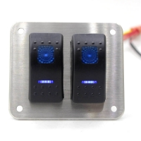Buy cheap 2 Gang Dual LED 5Pins Universal Rocker Switch Panel from wholesalers