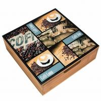 Buy cheap Easy Cleaning Wooden Tea Bag Chest Drawer Countertop Storage For Restaurant from wholesalers