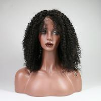 Buy cheap Indian Kinky Curly Human Hair Lace Front Wigs For Black Women No Shedding from wholesalers