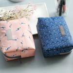 Buy cheap Water Repellent Polyester Cosmetic Bag With Flower Patterns from wholesalers
