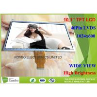 Buy cheap LVDS Interface Custom Lcd Display , 10.1 Inch Tft Display Screen 1024 * 600 Resolution product