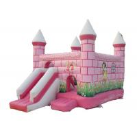 Buy cheap Central City Bounce House Slide Combo Pink Inflatable Amusement Park from wholesalers