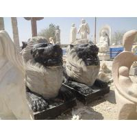 Buy cheap Modern stone outdoor sculpture statue with lion from wholesalers