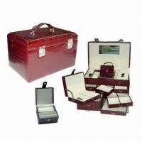Buy cheap Special Trunk Jewelry Box in Crocodile Faux Leather Wrapped, with Storage for Rings and Necklaces from wholesalers
