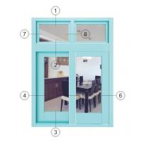 Buy cheap Horizontal Interior Aluminium Sliding Windows Soundproof With Forested Glass from wholesalers