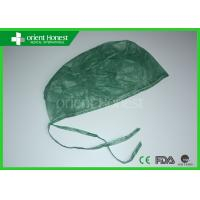 Buy cheap Olive Green Nonwoven Doctors Disposable Surgical Caps For Hospital / Operation Room from wholesalers