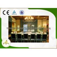 Electromagnetic Heating Teppanyaki Grill Table Customized 10 Seats Capacity