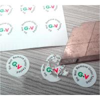 Buy cheap High Brittle White Security Labels Stickers Strong Adhesive Difficult Remove For Screw from wholesalers