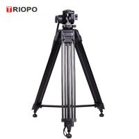 Buy cheap TRIOPO professional aluminum video camera DV tripod for DSLR Nikon Canon EOS with black color from wholesalers