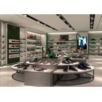 Buy cheap Fashion Shoe Display Wall Shelves , Round Footwear Display Stands MDF Material from wholesalers