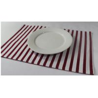 Buy cheap 100% Cotton Red And White Striped Placemats Dining Room Table Mats 250gsm from wholesalers