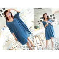 Buy cheap Blue Color Sleep Lounge Nightwear Soft Combed Cotton Eco - Friendly product