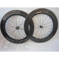 Buy cheap Super light strongest low price 700c clincher carbon wheelset carbon 88mm 23mm road bike from wholesalers