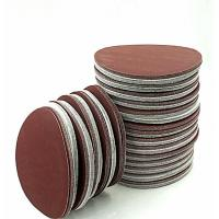 Buy cheap Red Brown Colored Sand Paper Self Adhesive Sandpaper Pad 60# / 80# Grit from wholesalers