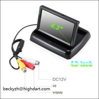 Buy cheap 4.3 inch car color LCD folded monitor two way vedio input easy install and good from wholesalers