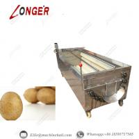Buy cheap Brush Roller Potato Washing Machine|Automatic Brush Roller Potato Washing Machine|Brush Roller Cleaning Machine from wholesalers