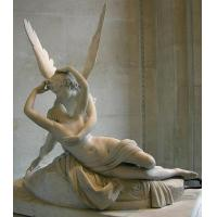 Buy cheap white marble Cupid and Psyche sculpture from wholesalers