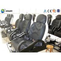Buy cheap Fiberglass Electronic 5D Movie Theater Motion Chair Genuine Leather With Spray Air product