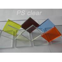 Buy cheap Indoor Clear Polystryrene Plastic Sign Board Heat / Electronically Resistant from wholesalers