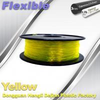 Buy cheap High Elasticity Yellow Flexible 3D Printer Filament 1.75 / 3.0 mm product