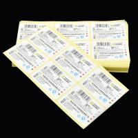 Buy cheap Custom Tear Resistant  Adhesive Vinyl Sticker for Stationery with Barcode Printed from wholesalers