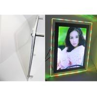 Buy cheap Acrylic crystal circle shining led display light box from wholesalers