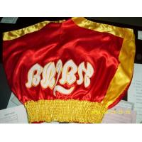 Buy cheap muay thai shorts , Red and Yellow from wholesalers