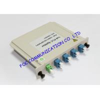 Cassette Box Type LC / UPC Fiber PLC Splitter , 1×8 Passive Optical Splitter