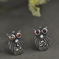 Buy cheap Vintage Owl Design Sterling Silver Stud Earrings(XH023333W) from wholesalers